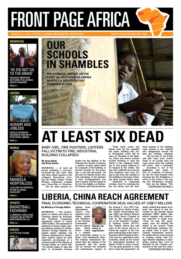 FPA FRONT PAGE